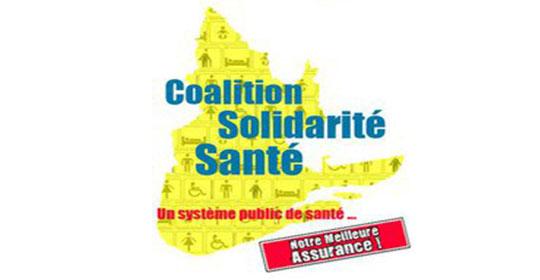 Appui de la Coalition Solidarité Santé