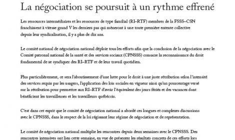 Bulletin d'information des RI-RTF, 7 mars 2011