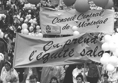 Commission de l'équité salariale : la ministre Courchesne empêche le démantèlement