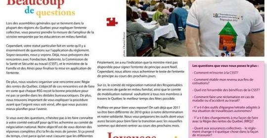 Bulletin Info-RSG, 21 décembre 2010