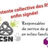Signature de la première entente collective des RSG: la fin heureuse d'un long parcours