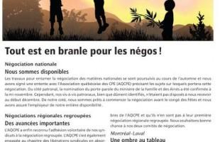 Bulletin Info-négo des CPE, No. 2, décembre 2010
