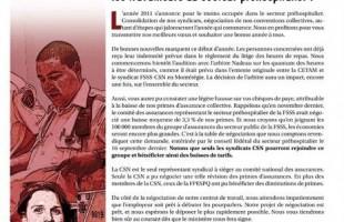 Bulletin Info-négo secteur préhospitalier, janvier 2011