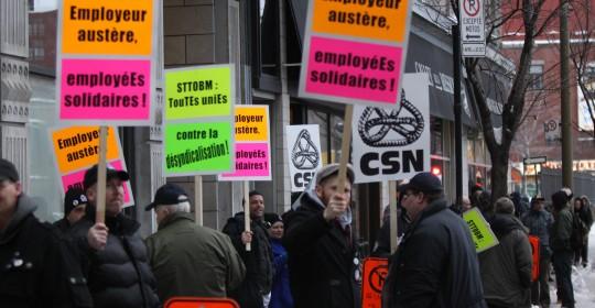 Les travailleuses et travailleurs demandent le respect à la mission Old Brewery