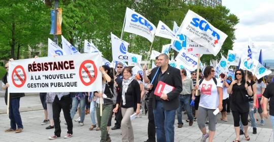 Manifestation à Québec contre la méthode Lean dans le réseau de la santé