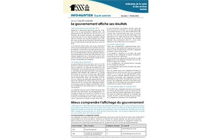 Info-Maintien de l'équité salariale