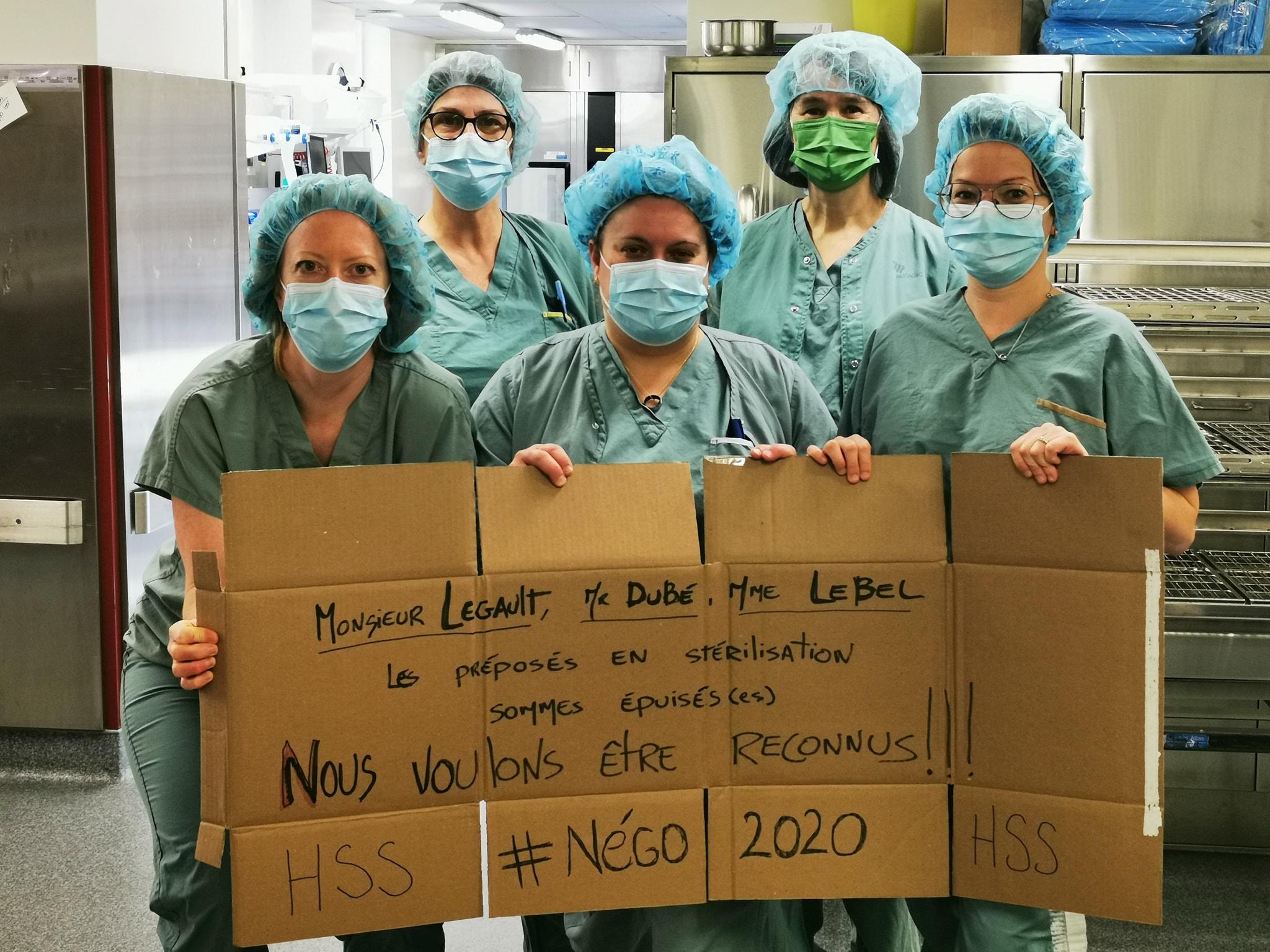 Le personnel en retraitement des dispositifs médicaux demande reconnaissance et respect