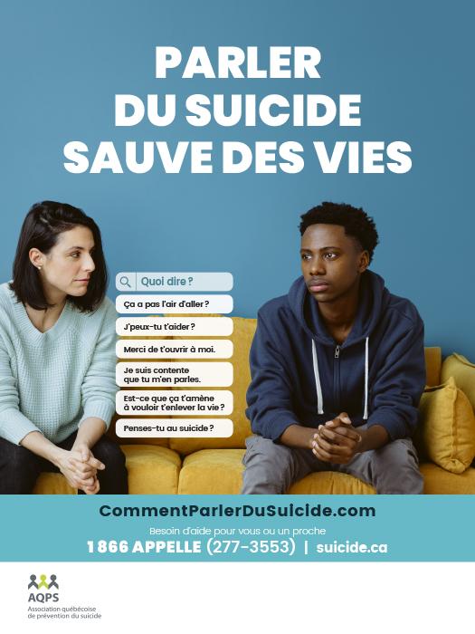 Semaine de prévention du suicide 2021  – Ensemble pour chacun!